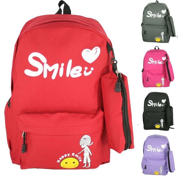 Kit Mochila Teen Notebook + Estojo Volta S Aulas 2019 Smile