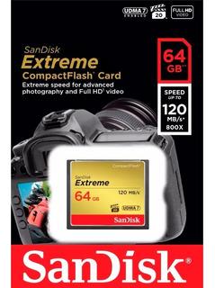 Cartão De Memória Sandisk Extreme® Compactflash® 64gb