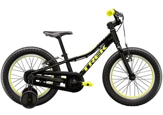 Bicicleta Trek Niño Precaliber Rodado 16 F/w Negra/amarila