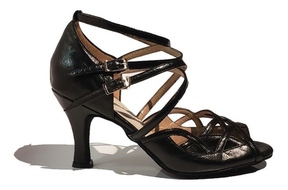 Zapatos Sandalias De Baile Salsa Bachata Piel O Negro Tango