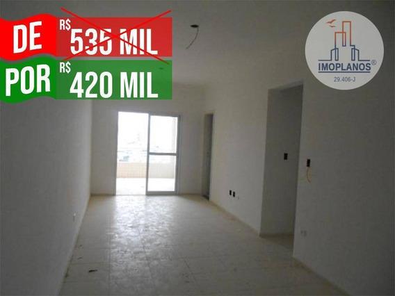 Apartamento Com 3 Dormitórios À Venda, 116 M² Por R$ 420.000 - Canto Do Forte - Praia Grande/sp - Ap10685