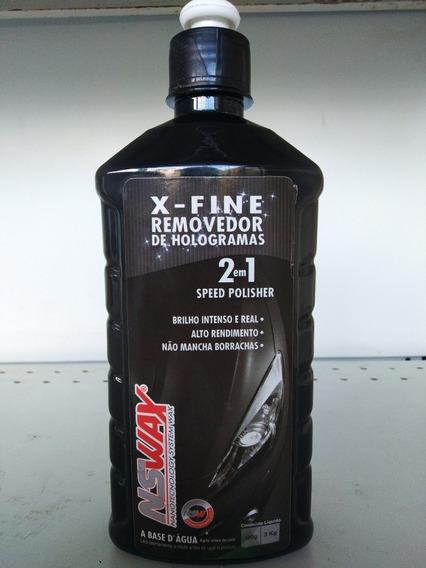 X-fine Removedor De Hologramas 2 Em 1 - Nswax - Que 500g