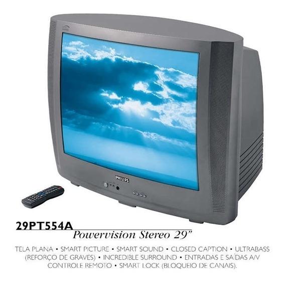 Tv Philips Mod. 29pt554a + Suporte Para Tv, Video/dvd/outros