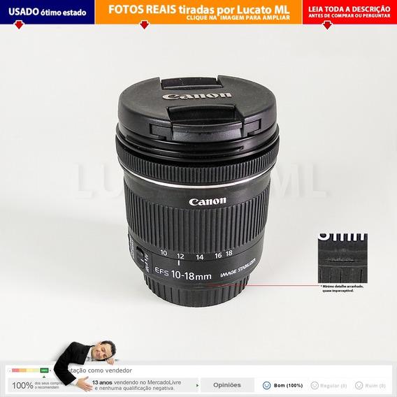 Lente Canon Estado De Nova Efs 10-18mm F/4.5-5.6 Is Stm 2a