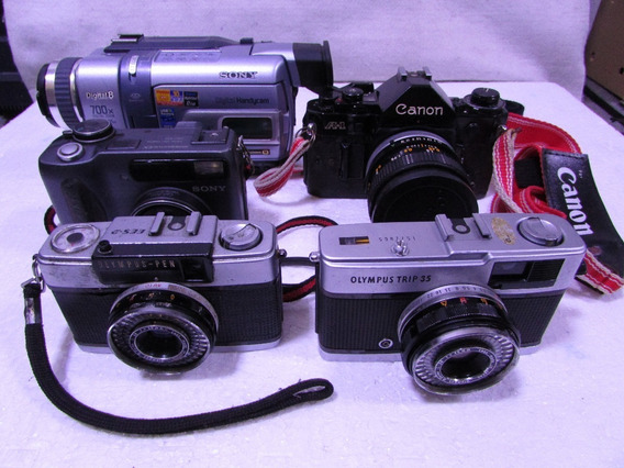 Lote 5 Cameras Diversas Sem Garantia