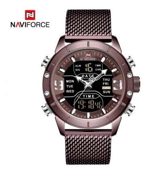 Relógio Naviforce Sport Militar Masculino - Lançamento 2019