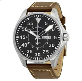 Relógio Hamilton Khaki Aviation Pilot Black Watch H64611535