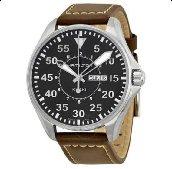 Relógio Hamilton Khaki Aviation Pilot Black Watch H64611535
