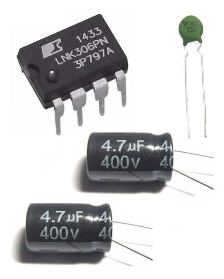 Kit Lnk306pn + Capacitores 400v 4.7uf + Termistor Wmz75s