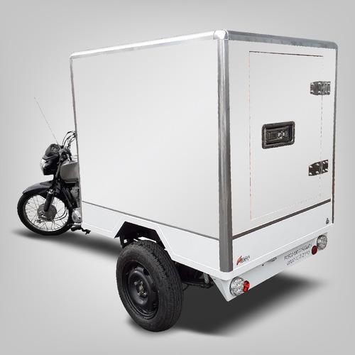 Triciclo De Carga Fusco F - Baú Isotérmico - Faz 30km/l