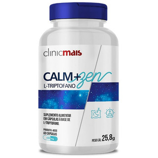 Calm+zen L-triptofano Contem 60 Cápsulas Clinicmais