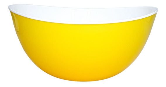 Ensaladera Bowl Bols Redondo Plástico 25cm Colores