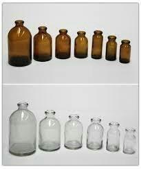 Imagen 1 de 8 de Viales De Vidrio Ambar Y Transparente 2,7,10,20,30,50,100 Ml