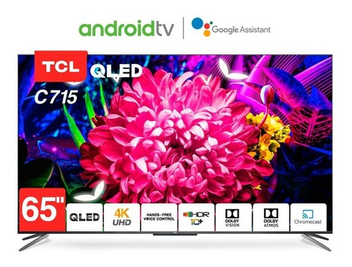 Tv Television Tcl 65 Uhd 4k Android Control Voz 65p715