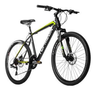 Bicicleta Mountain Topmega Rowen R26 Shimano Nueva * Negra Con Verde O Negra Con Naranja * Ahora 12 / 18 En Fas!