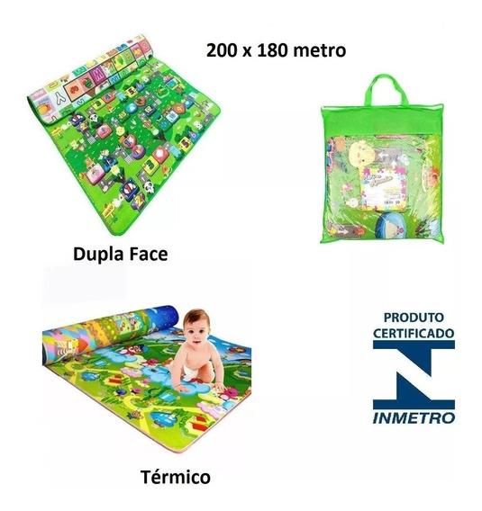 Tapete Infantil Educativo Atividades Duplo 200 X 1,80 Metro