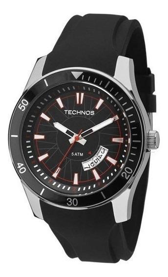 Relógio Technos Masculino Prata/preto 2115ksn/8p