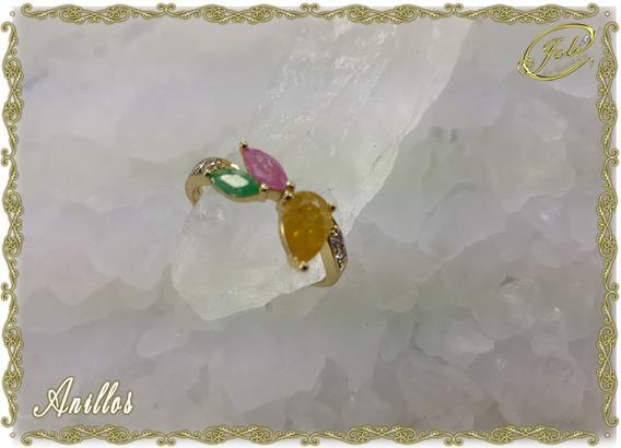 Anillos Oro Laminado. Paquete De 6 Piezas