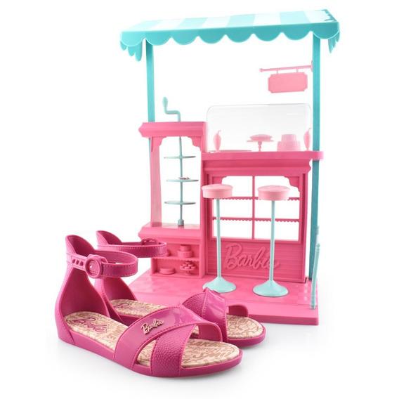 Sandália Barbie Confeitaria + Brinde 21921 Grendene Original