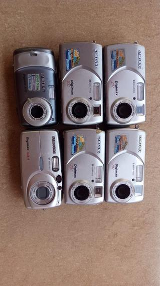 Lote 6 Cameras Digitais Samsung Digimax 202 Com Defeito