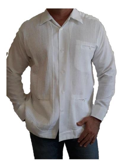 Guayabera Presidencial 4xl(48) Y 5xl(50) De Lino Ml