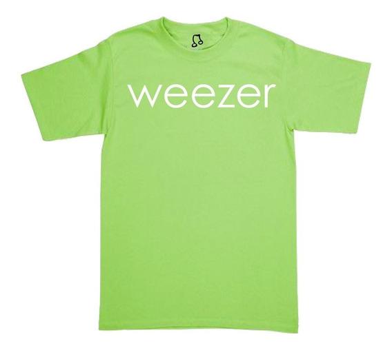 Playera Weezer - Blue - Red - Green