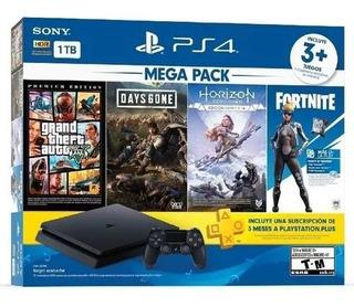 Consola Ps4 Mega Pack 4 O 7 Juegos Incluidos - Adn Tienda