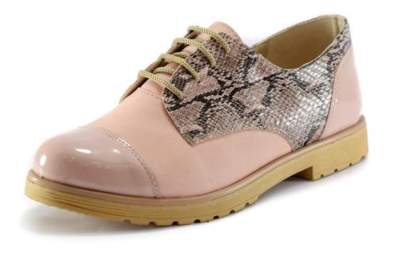 Zapatos Mujer Acordonado Bota Borcego Nueva Temporada