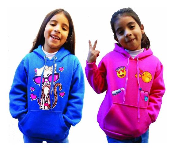 Buzos Canguros Niños Friza Gruesa Talles 10-12-14-16