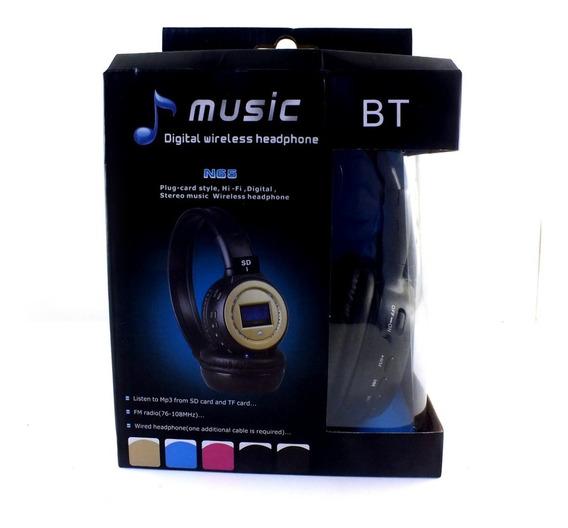 Fone De Ouvido Bluetooth Sem Fio Com Preto Acolchoado 76 Mhz ~ 108.0 Mhz Stéreo Entradas Para Microfones Mp3, Mp4 A11046