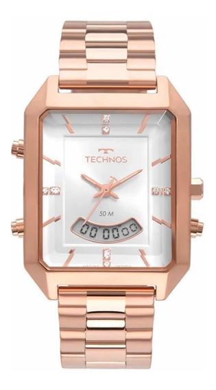 Relógio Technos Feminino Elegance Rosê T200ah/4k