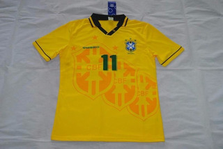 Camisa Futebol Brasil Romario #11 Copa 1994 Tetra Campeão