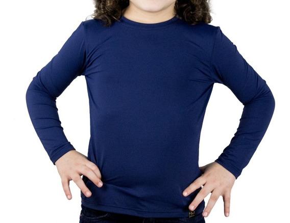 Camiseta Segunda Pele Infantil Longa Com Proteção Uv 50+