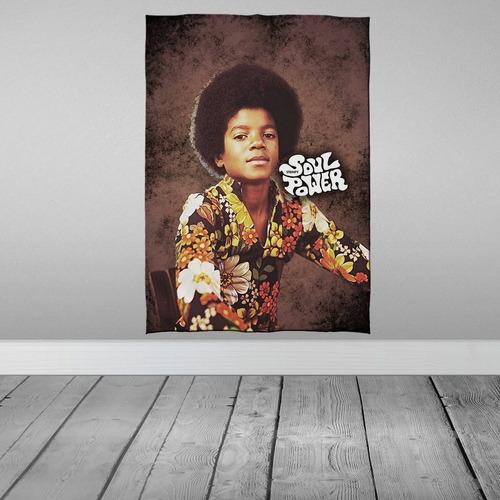 Imagem 1 de 3 de Stompy Bandeira Decorativa Decoração Michael Jackson Young