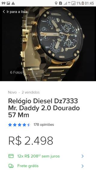 Vendo Relogio Diesel Novo Original