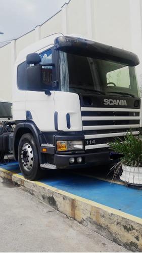 Scania P114 330, 4x2, Branco, Ano 2000