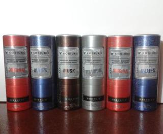 6 Envases De Desodorantes Vacíos Kosiuko Para Coleccionistas