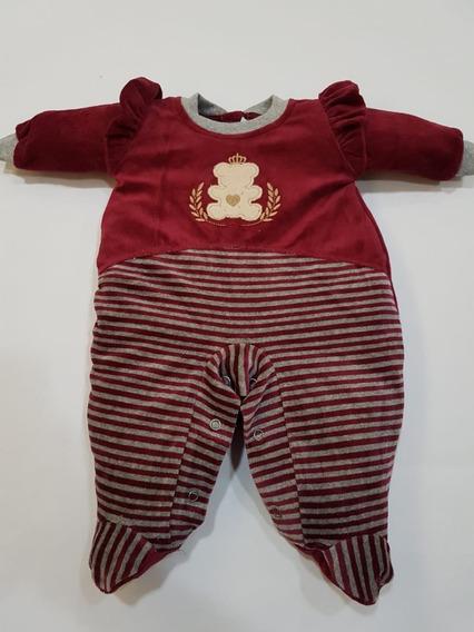 Macacão Plush Bebê Ursinha - Coleção 2019
