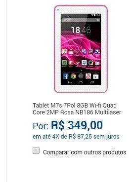Tablet M7 Prinsessas Rosa