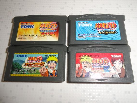 Oferta 4 Fitas Game Boy Advance Naruto Ninja Gba Japan Veja