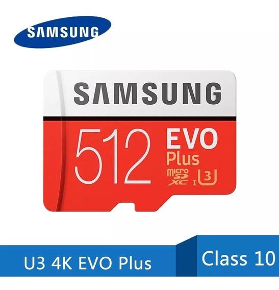 Cartão De Memória Samsung Micro Sd Evo Plus 512gb Sdhc Sdxc