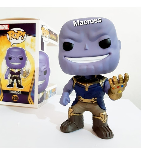 Funko Pop Thanos 289 Avengers Buble Head De 14 Cm