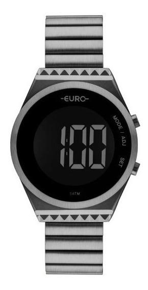Relógio Feminino Euro Fashionfit Eubjt016ac/4c Digital Cinza