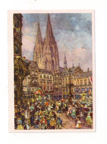 Alemania Antigua Tarjeta Postal Carnaval De Colonia