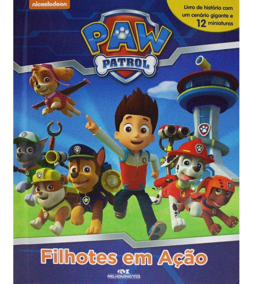 Livro Infantil Patrulha Canina Acompanha Miniaturas Barato