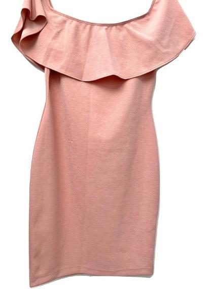 Guess Vestido Bodycon Rosa Talla M 100% Original