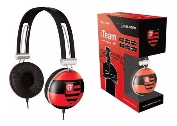 Fone De Ouvido Waldman Flamengo Iteam Headphone Super Bass