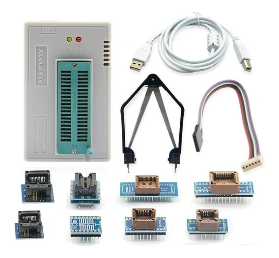 Gravador Memória Minipro Xgecu Tl866 Ii Plus + 9 Acessórios