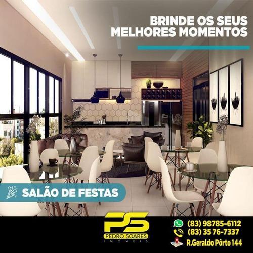 ( E X C L U S I V O ) Belíssimo Apartamento Com 2 Dormitórios À Venda, 54 M² Por R$ 224.000 - Jardim Oceania - João Pessoa/pb - Ap1844