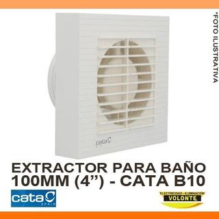 Extractor De Baño Cata B10 - Blanco - 100mm - Standard